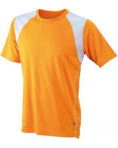 Funktions T-shirt James & Nicholson Running Herren  orange