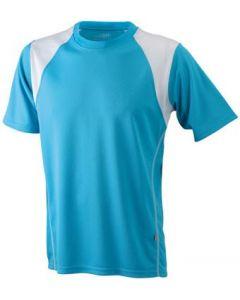 Funktions T-shirt James & Nicholson Running Kinder turquosie/white