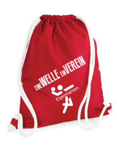 Sportbeutel TSC Wellingsbüttel rot Handballabteilung
