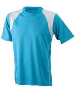 Funktions T-shirt James & Nicholson Running Kinder turquosie/white