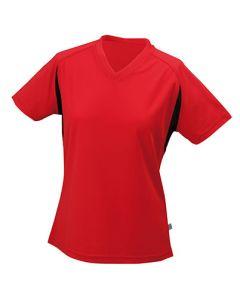 Funktions T-shirt James & Nicholson Running -T Damen