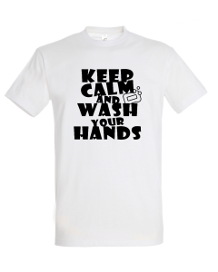 Corona Virus Fun Shirt Keep calm wash hands (Damen & Herren)