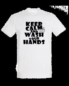 Corona Virus Fun Shirt Keep calm wash hands (Damen & Herren)