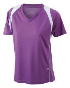 Funktions T-shirt James & Nicholson Running Damen purple