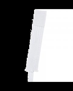 Fußballstutzen mit Steg in  weiß